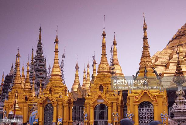 Pagodas at Burma's Shwedagon