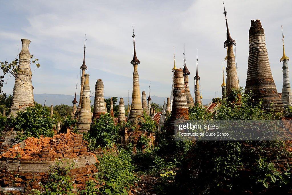 Pagodas Inle lake Burma : Stock Photo