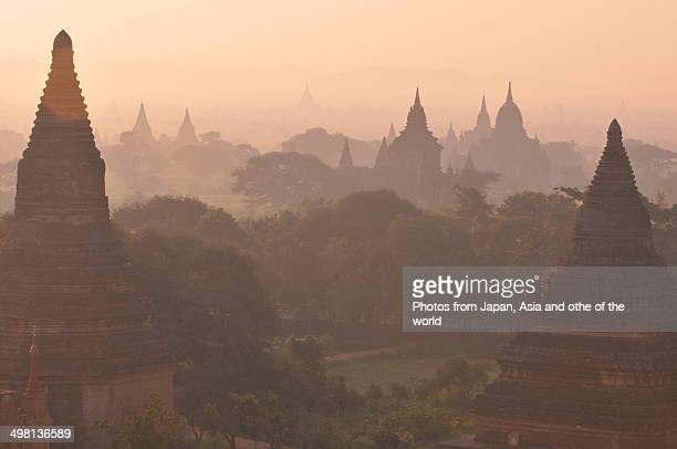 Pagodas of Bagan in the Morning Mist
