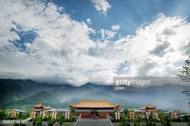 pagodas of chongsheng temple - yunnan province stock pictures, royalty-free photos & images