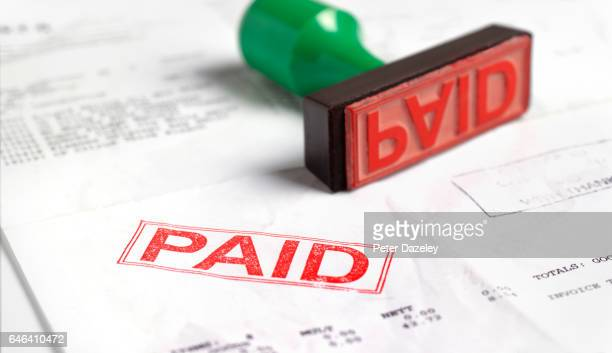 paid invoice - paid stock pictures, royalty-free photos & images