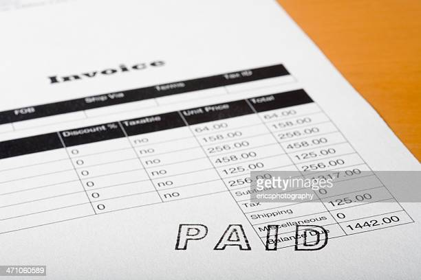 paid statement - paid stock pictures, royalty-free photos & images