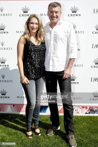 Paige and Steve Quartermain arrives ahead of the 2018 Crown IMG Tennis Player at Crown Palladium on January 14 2018 in Melbourne Australia