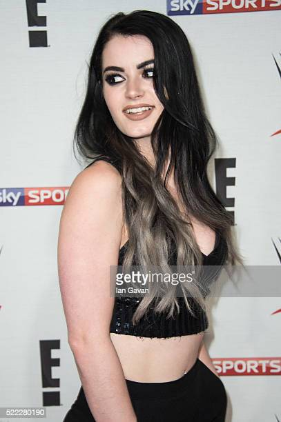 Paige arrives for WWE RAW at 02 Brooklyn Bowl on April 18 2016 in London England