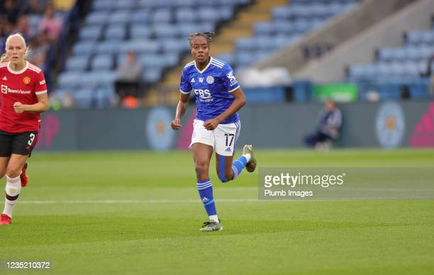 Paige Bailey Gayle of Leicester City Women during the Barclays FA Women's Super League match between Leicester City Women and Manchester United Women...