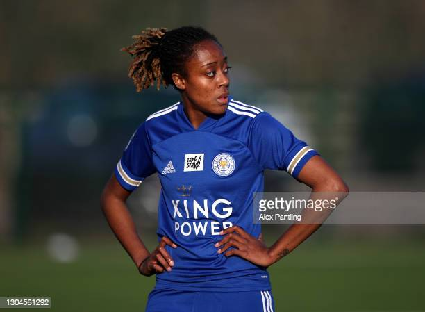 Paige Bailey-Gayle of Leicester City during the Barclays FA Women's Championship match between Leicester City Women and Crystal Palace Women at...