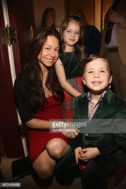 Paige Boller Charles Boller Malik and Jacqueline Boller Malik attend If You Give a Mouse a Maltese Cross Holiday Party at Verdura Showroom on...
