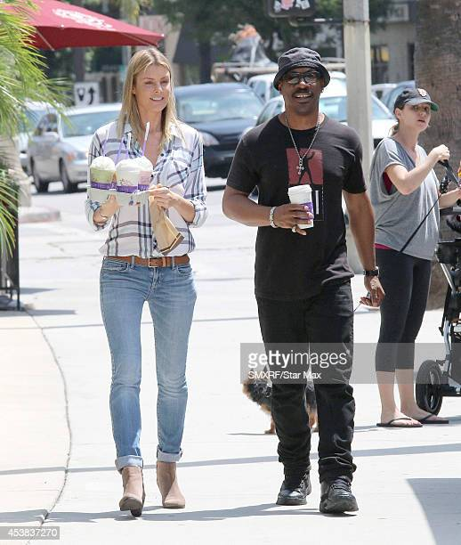 Paige Butcher and actor Eddie Murphy are seen on August 19 2014 in Los Angeles California