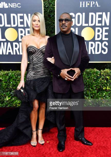 Paige Butcher and Eddie Murphy attend the 77th Annual Golden Globe Awards at The Beverly Hilton Hotel on January 05, 2020 in Beverly Hills,...