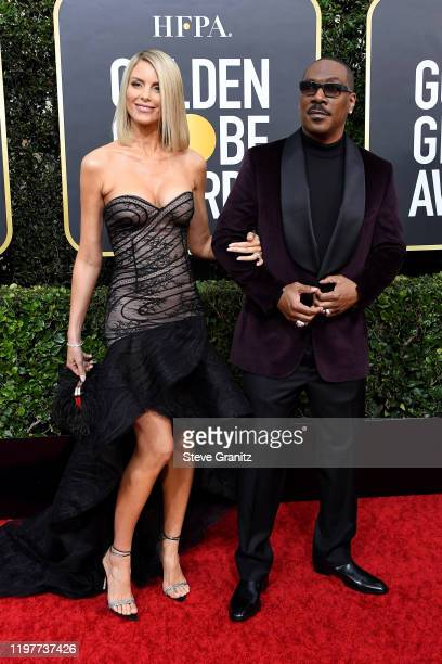 Paige Butcher and Eddie Murphy attend the 77th Annual Golden Globe Awards at The Beverly Hilton Hotel on January 05 2020 in Beverly Hills California