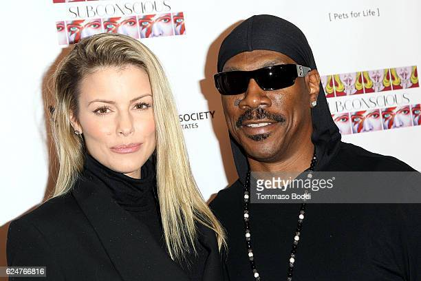 Paige Butcher and Eddie Murphy attend the Debut Gallery Opening Of Bria Murphy's Subconscious at Los Angeles Contemporary Exhibitions on November 20...