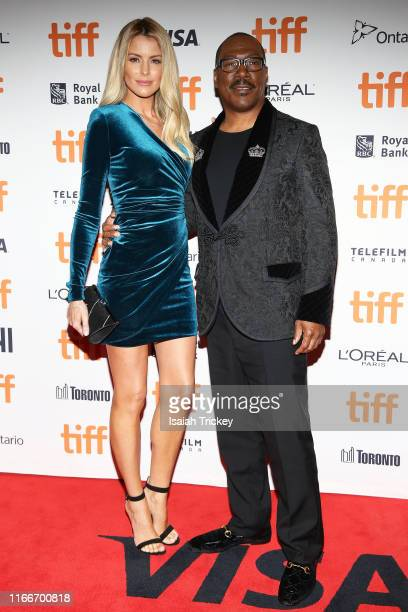 Paige Butcher and Eddie Murphy attend the Dolemite Is My Name premiere during the 2019 Toronto International Film Festival at Princess of Wales...