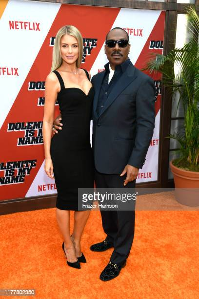 """Paige Butcher and Eddie Murphy attend the LA Premiere Of Netflix's """"Dolemite Is My Name"""" at Regency Village Theatre on September 28, 2019 in..."""