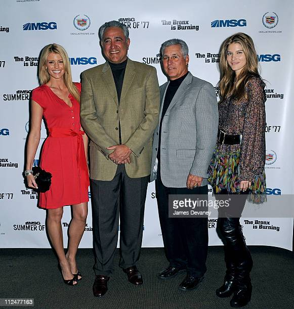 Paige Butcher Mike Torrez Bucky Dent and Le Call attend MSG's celebration for the 'Summer of '77' at Mickey Mantle's Restaurant on March 26 2009 in...