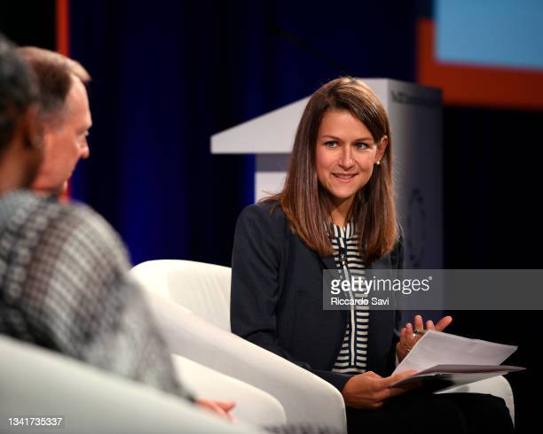 Paige Cunningham, Healthcare Reporter, The Washington Post, speaks onstage during the 2021 Concordia Annual Summit - Day 2 at Sheraton New York on...