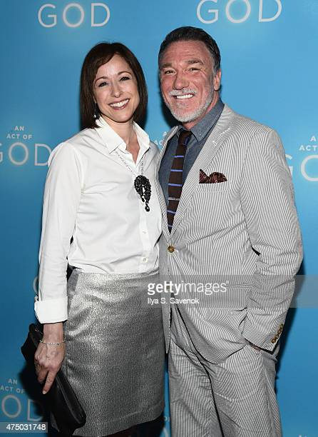 Paige Davis and Patrick Page attend An Act Of God Broadway Opening Night on May 28 2015 in New York City