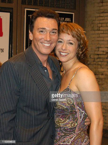 Paige Davis of Trading Spaces exits Ambassador Theater with her husband Patrick Page