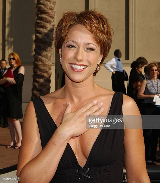 Paige Davis wearing VIVID Collection jewelry during 2003 Emmy Creative Arts Awards Arrivals at Shrine Auditorium in Los Angeles California United...