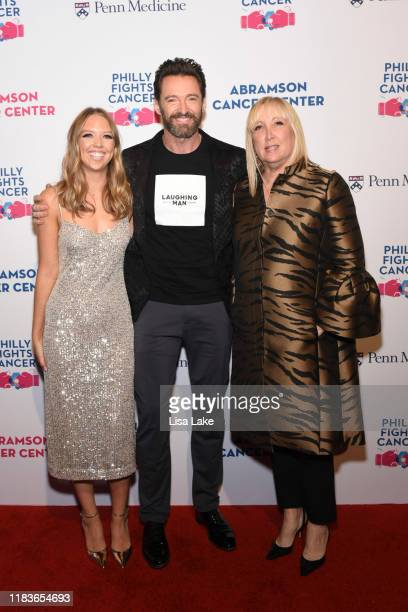 Paige Dietz Hugh Jackman and Missy Dietz walk the red carpet during the Philly Fights Cancer Round 5 Event benefiting Penn Medicine's Abramson Cancer...