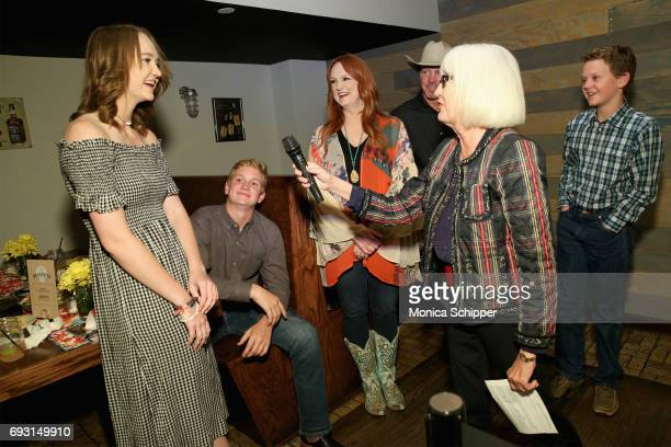 Paige Drummond, Ellen Levine and Ree Drummond speak during The Pioneer Woman Magazine Celebration with Ree Drummond at The Mason Jar on June 6, 2017...