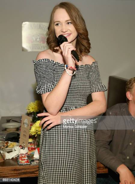 Paige Drummond speaks during The Pioneer Woman Magazine Celebration with Ree Drummond at The Mason Jar on June 6 2017 in New York City