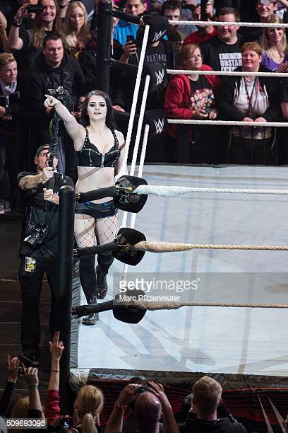 Paige during WWE Road to WrestleMania at the Lanxess Arena on February 11 2016 in Cologne Germany