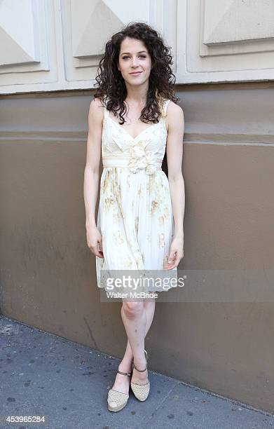 Paige Faure during the 'Married and Starring on Broadway' Photo Shoot in Shubert Alley on August 21 2014 in New York City