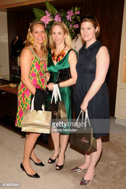 Paige Hardy Lara Glazier and Kelly Mallon attend JUDITH LEIBER the WILDLIFE CONSERVATION SOCIETY'S 100 for $100 Handbags Cocktail Reception at Judith...