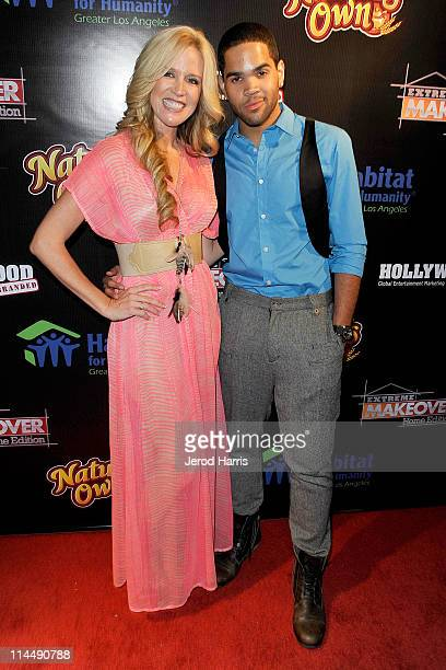 Paige Hemmis and Dijon Talton arrive at ABC's Extreme Makeover Home Edition Benefiting Habitat For Humanity Los Angeles on May 21 2011 in Culver City...