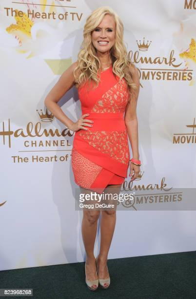 Paige Hemmis arrives at the 2017 Summer TCA Tour Hallmark Channel And Hallmark Movies And Mysteries at a private residence on July 27 2017 in Beverly...