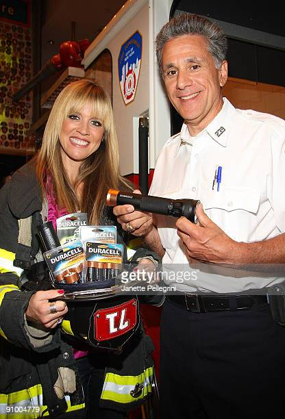 Paige Hemmis from Extreme Makeover Home Edition and Lt Anthony Mancuso Director of Fire Safety Education for the FDNY join Duracell and FDNY...