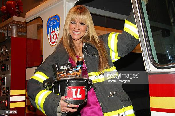 Paige Hemmis from Extreme Makeover Home Edition joins Duracell and FDNY Foundation to launch the More Power to Protect campaign at FDNY Fire Zone on...