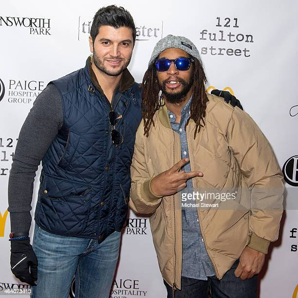 Paige Hospitality Group director Brian Mazza and DJ Lil Jon attend Paige Hospitality Group's Third Annual Sundance Football Game Watch on January 19...