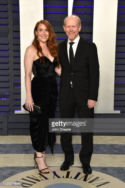 Paige Howard and Ron Howard attend the 2019 Vanity Fair Oscar Party hosted by Radhika Jones at Wallis Annenberg Center for the Performing Arts on...