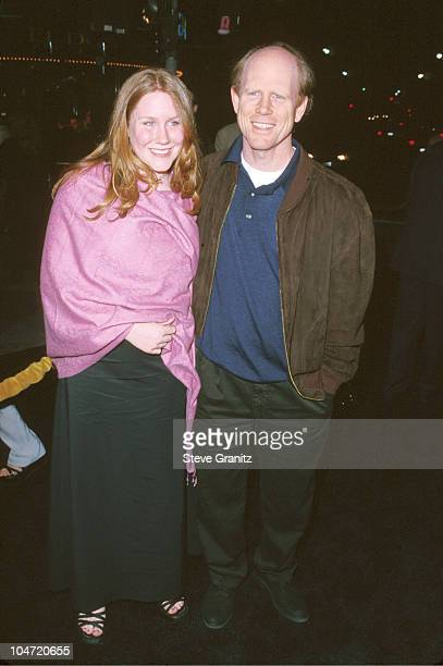 Paige Howard and Ron Howard during The Road to El Dorado Premiere at Mann Village Theatre in Westwood California United States