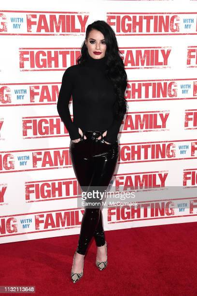 Paige Knight attends the UK Premiere of Fighting With My Family at BFI Southbank on February 25 2019 in London England