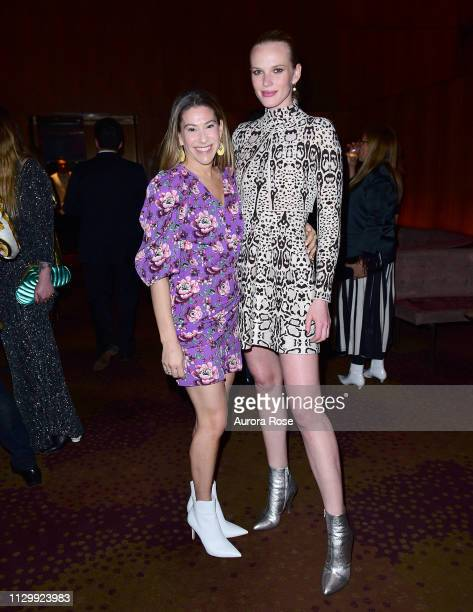 Paige Kramer and Anne Vyalitsyna Attend the Art Production Fund Presents Printz And The Revolution Party at the Seagram Building on March 11 2019 in...
