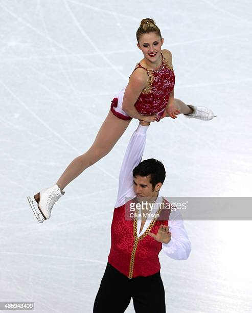 Paige Lawrence and Rudi Swiegers of Canada compete in the Figure Skating Pairs Free Skating during day five of the 2014 Sochi Olympics at Iceberg...