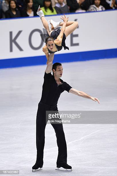 Paige Lawrence and Rudi Swiegers of Canada compete in the pair short program during day one of ISU Grand Prix of Figure Skating 2013/2014 NHK Trophy...