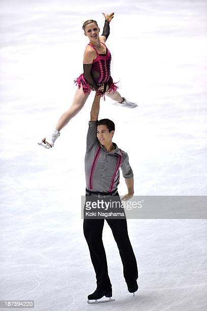 Paige Lawrence and Rudi Swiegers of Canada competes in the pair short program during day one of ISU Grand Prix of Figure Skating 2013/2014 NHK Trophy...