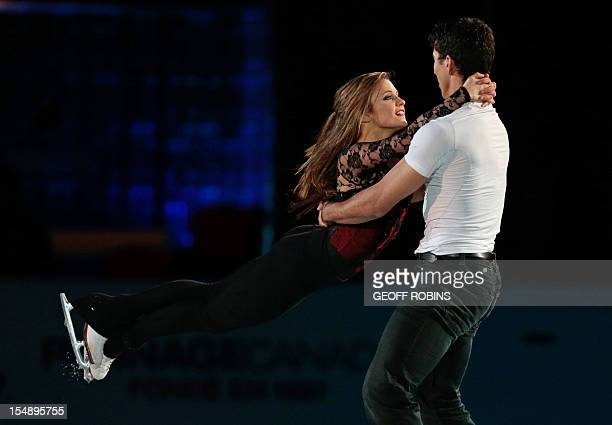 Paige Lawrence and Rudi Swiegers of Canada skate in the exhibition gala at the 2012 Skate Canada International ISU Grand Prix event in Windsor...