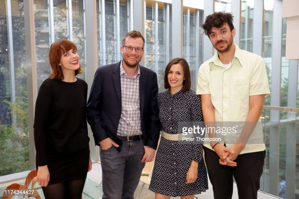 Paige Lewis John Green Sarah Urist Green and Kaveh Akbar at the Poetry Foundation and Complexly launch of Ours Poetica on September 12 2019 in...