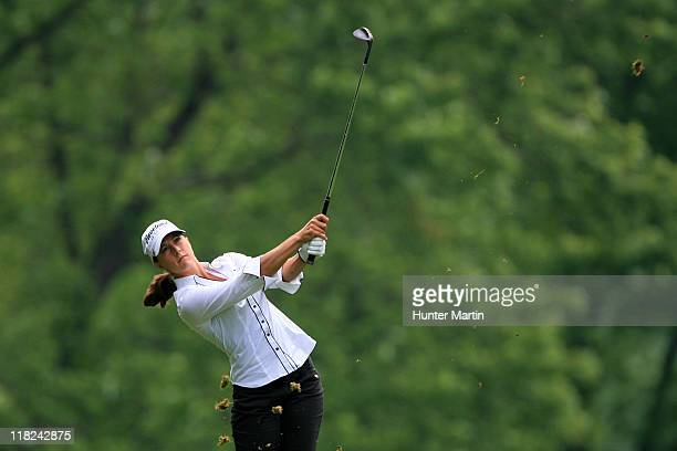 Paige MacKenzie hits a shot during the second round of the Wegmans LPGA Championship at Locust Hill Country Club on June 24 2011 in Pittsford New York