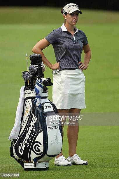 Paige Mackenzie of the USA in action during the first round of the HSBC Women's Champions at the Tanah Merah Country Club on February 23 2012 in...