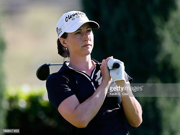 Paige Mackenzie tees off the 15th hole during the first round of the LPGA LOTTE Championship Presented by J Golf at the Ko Olina Golf Club on April...