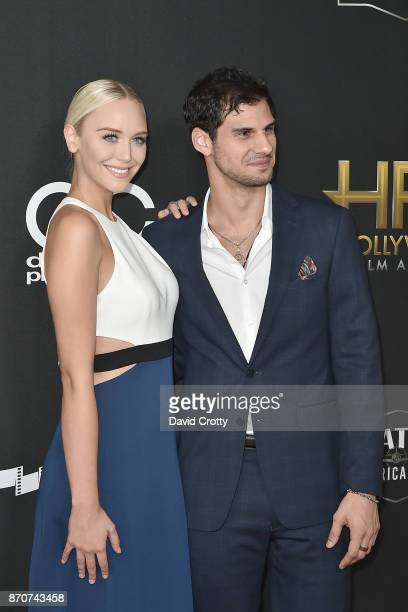 Paige Mobley and Skyler Bible attend the 21st Annual Hollywood Film Awards Arrivals on November 5 2017 in Beverly Hills California