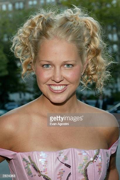 Paige Mycoskie arriving at the CBS Network 2002/2003 Season Upfront party at Tavern On The Green in New York City May 15 2002 Photo Evan...