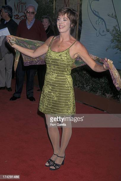 Paige O'Hara attends the world premiere of Mulan on June 5 1998 at the Hollywood Bowl in Hollywood California