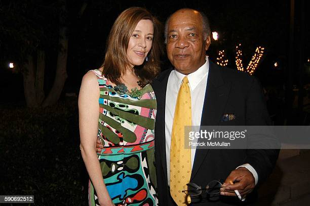 Paige Powell and Gerard Basquiat attend Basquiat Exhibition Preview at MOCA on July 15 2005 in Los Angeles CA