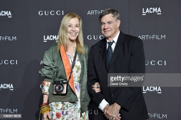 Paige Powell and Gus Van Sant attend LACMA Art Film Gala 2018 at Los Angeles County Museum of Art on November 3 2018 in Los Angeles CA